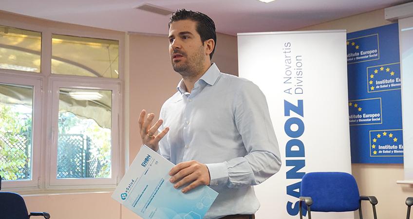 Sergio Vañó, presidente de AIES, durante la presentación del informe EHON Salud Digital (eHealth Focus on)